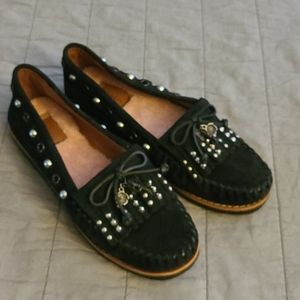 Coach Rexy Roccasin Black  Leather Moccasin Sz 7.5